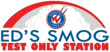 Ed's Smog Test Only Station logo